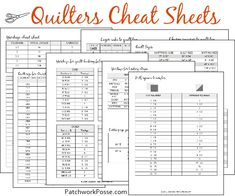 After putting out the Patchwork Planner & Journal— and then this year the Patchwork Calendar, I got thinking (and was missing) a few things. More of the reference sheets for quilting. Quite a few emails came into me as well requesting that more of these were included in the products. While it's a wonderful idea….those …