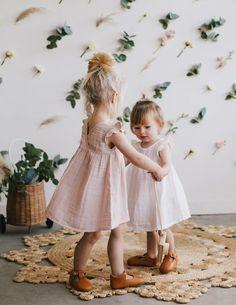 Organic Cotton Lace Dress - Rose Smoke