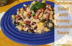 This is a terrific side dish or filling for a tortilla wrap or lettuce leaf! Recipe from Mary McDougall, with the addition of my Honey Mustard Sauce recipe.