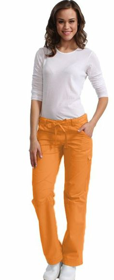 So cute and in a hot color! Koi Happiness Women's Lindsey Cargo Scrub Pants at allheart.