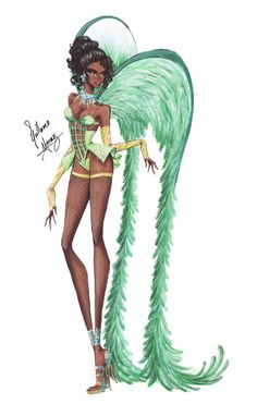 Disney Princesses go Victoria's Secret - Tiana by frozen-winter-prince on DeviantArt