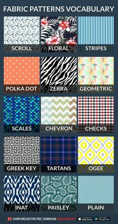 Clothes Patterns Vocabulary 33 New Ideas – Definitions, Lists and Ways – fabric