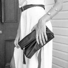Stitch & Hide Lily Clutch - Black - The Style Merchant Lily, Stitch, Stylish, Bags, Fashion, Handbags, Moda, Full Stop, Fashion Styles