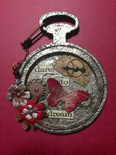 Claudine's Art Corner- pocket watch die, BEAUTIFUL!!