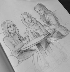 sketches of three friends - Buscar con Google