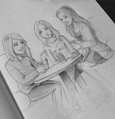 sketches of three friends - Buscar con Google