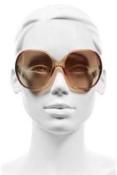 Alternate Image 2  - Chloé Misha 59mm Gradient Round Retro Sunglasses