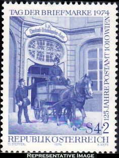 Stamp: Yard of the post & telegraph office 1010 Vienna (Austria) (Stamp Day) Mi:AT 1494 Stamp Auctions, Picture Postcards, Stamp Collecting, Postage Stamps, Uk Stamps, Yard Art, Great Artists, Austria, Fine Art America