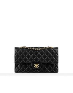 $4,900 Chanel Classics - Classic flap bag in quilted lambskin Available in silver or gold metal Also available in caviar calfskin