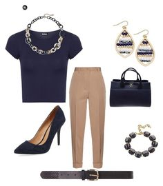 """""""Wednesday Navy Outfit"""" by direyna on Polyvore featuring Bottega Veneta, WearAll, Maiden Lane, INC International Concepts, Chico's, Chanel, Fornash and Dorothy Perkins"""