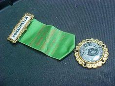 Antique Rare Secret Society Societa Femminile Maria SS Di Montevergine Medal Pin