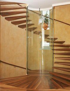 circular floating staircase