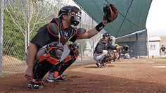 Buster Posey hopes to play in the the Giants' first Cactus League game on March 3. (Darron Cummings/AP) (Spring training, 2012)