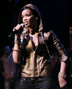 Mike & Chris leather jacket (as seen on Rihanna).  http://www.ortutraders.com/mike-chris/