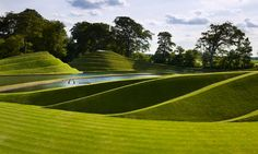 Charles Jencks' Life Mounds, created for Robert and Nicky Wilson at Jupiter Artland sculpture park in Scotland. Study Architecture, Landscape Architecture, Urban Landscape, Landscape Design, Garden Of Cosmic Speculation, Grass Field, Wallpaper Magazine, Garden Planning, Garden Landscaping