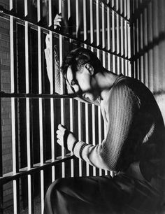 Jerry Mangano in his cell after a jury found him guilty and sentenced him to the electric chair.