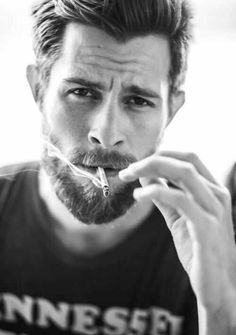 This beard and this hair. MINUS the cigarette that's going to ruin it.