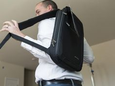 Cocoon's SLIM Backpack offers plenty of compartments to carry your iPad, tie-down straps for your chargers and small supplies.