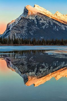 Rundle Mountain, Banff National Park, Canada; photo by Levin Rodriguez
