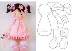 Lessons I've Learned from Sewing Teddy Bears Felt Doll Patterns, Fabric Doll Pattern, Primitive Doll Patterns, Felt Crafts Diy, Doll Crafts, Diy Doll, Fabric Toys, Sewing Dolls, Felt Toys