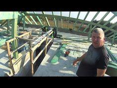 """Jak powstaje więźba dachowa """" Montaż gotowej konstrukcji dachu """" - YouTube"""