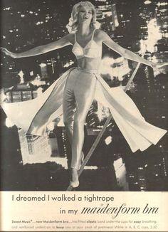 Vintage Maidenform bra ad (via retronaut)