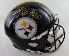 0250daeac TJ Watt Autographed Pittsburgh Steelers Speed Replica Helmet JSA