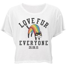 Love Fur Everyone | Love fur everyone! Love always wins!! Show your support for gay marriage and equal rights for all with a funny and cute rainbow cat flowy shirt! #lovewins