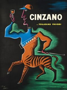 Jean Carlu, Cinzano, 1950