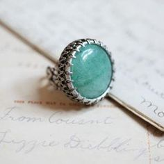 #Ruche                    #ring                     #Aventurine #ring #Ollipop                          Aventurine ring by Ollipop                                                    http://www.seapai.com/product.aspx?PID=490435