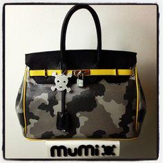 "Camouflage dark grey, black & yellow ""Nessy"""