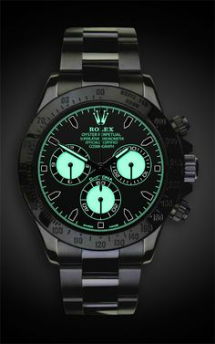 Daytona Martini Titan Black, #Rolex #watch.