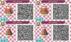 my name is claudia and you can find qr codes for animal crossing here! I also post non qr code related stuff so if you're only here for the qr codes please just blacklist my personal tag. Qr Code Animal Crossing, Animal Crossing Qr Codes Clothes, Animal Games, My Animal, Chandelure Pokemon, Dream Code, Acnl Paths, Motif Acnl, Ac New Leaf
