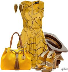 Love the color with a cute Micheal Kors Bag!