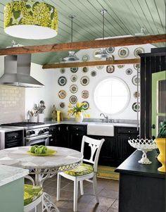 Kitchen-Green-Black-White