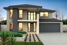 Clarendon Display Homes: Sherwood 42 Elite Facade. Model House Plan, My House Plans, Small House Design, Modern House Design, Clarendon Homes, Home Building Design, Luxury Homes Dream Houses, Dream House Exterior, Facade House