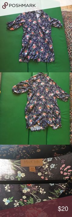 ModCloth brand floral romper Floral romper conches at waist very gently used ModCloth Pants Jumpsuits & Rompers