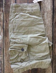 "American Eagle Shorts 10.5"" Classic Cargo Knee Shorts Tan Khaki Brown Men's 28 #AmericanEagleOutfitters #Cargo"