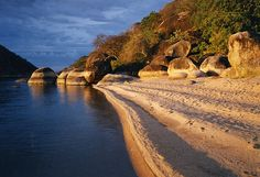 lake Malawi beach would love to dive where my Cichlids are found naturally....