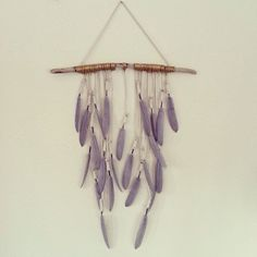 Feather+Wall+Hanging+'Grey+Riders'+by+kristenleighbaker+on+Etsy,+$175 ...