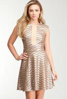 Bebe Chevron dress - http://fashchronicles.blogspot.com/2012/12/last-minute-holiday-shopping-spree.html