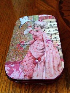 Pic of a Victorian Girl altered tin that I made in the past ...