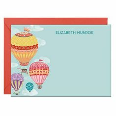 Hot Air Balloons A6 Stationery | Paper Source
