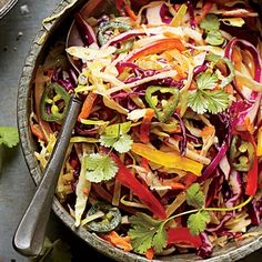 Central Texas Slaw packs a bit of punch and southwestern flair thanks to jalapeno pepper and cilantro.