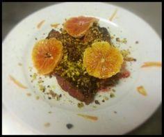 Tagliata di manzo con arancia e pistacchi  http://www.ristorantetrere.com/   #food #Viterbo #roma #italia #tuscia #trere #risto #lunch #dinner
