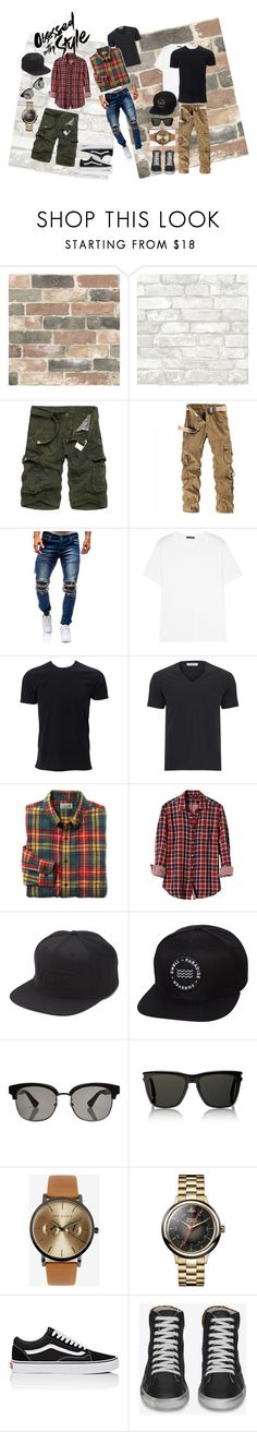 """JET SKI SET"" by milana-james on Polyvore featuring Wall Pops!, Acne Studios, Simplex Apparel, Versace, L.L.Bean, Banana Republic, Vans, Swell, Gucci and Yves Saint Laurent"