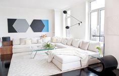 White Modern Living Room Design Ideas