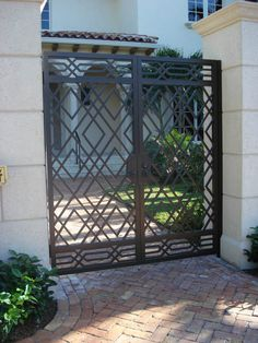 Decorative Wrought Iron Fence And Gates. Wrought Iron Fencing By City Wide Fence In Seattle WA. Home and Family Window Grill Design Modern, Grill Door Design, Wrought Iron Garden Gates, Wrought Iron Doors, Fence Gates, Front Gate Design, Door Gate Design, Modern Main Gate Designs, Modern Design
