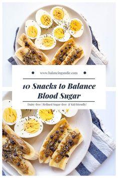 10 Snacks to Balance Blood Sugar Low Blood Sugar, Blood Sugar Levels, Lower Blood Sugar Naturally, Low Sugar Diet, High Sugar, Hypoglycemia Diet, Reactive Hypoglycemia, Regulate Blood Sugar, Cure Diabetes Naturally