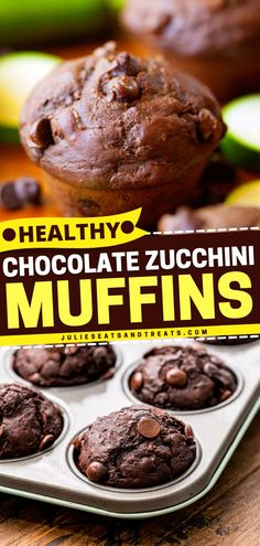 These Chocolate Zucchini Muffins are the perfect breakfast muffins everyone will love! Also great for a simple brunch or snack, this summer recipe is over the top delicious. Make use of your garden zucchinis! Breakfast Muffins, Breakfast Recipes, Double Chocolate Zucchini Muffins, Perfect Breakfast, Summer Recipes, Brunch, Healthy Recipes, Snacks, Meals